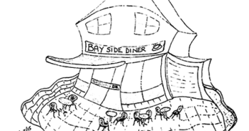 Sketch: Bay Side Diner, Pevensey Bay