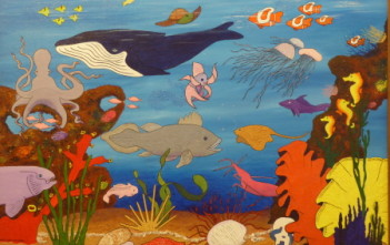 Underwater: Collaboration in acrylic